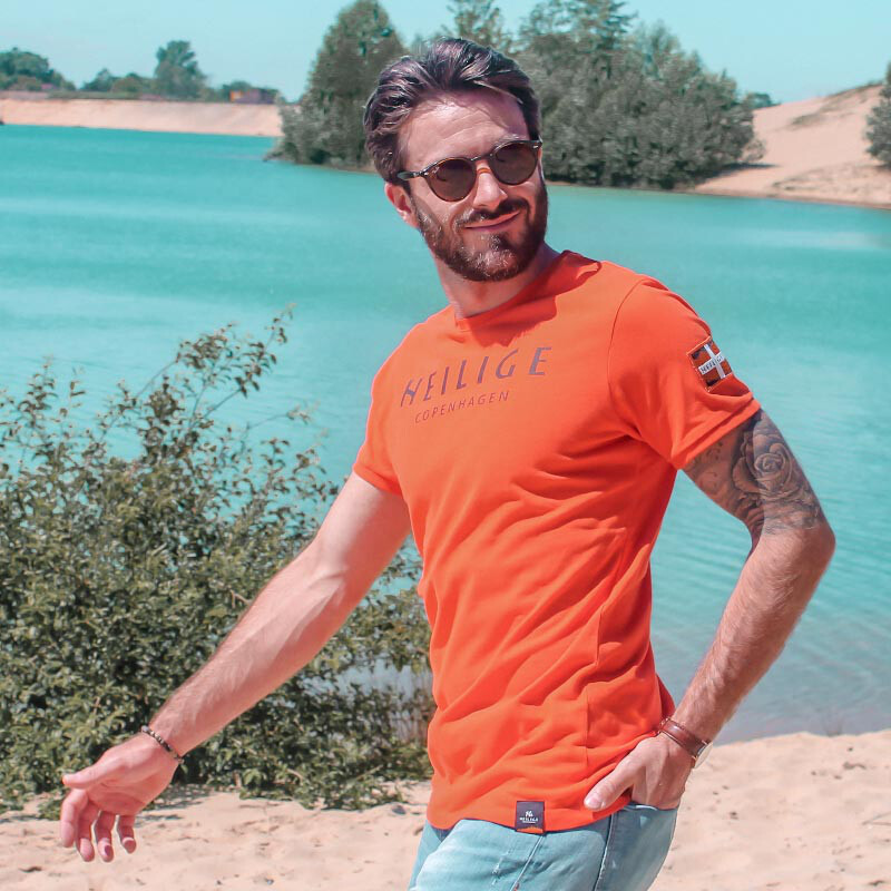 CLEAN Logo T-Shirt orange