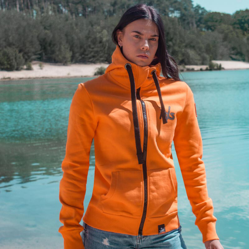 BASIC Sweatshirtjacke unisex - orange